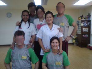 Isabelle LVZ à l'Ecole WAT PO - Traditional Thai Massage