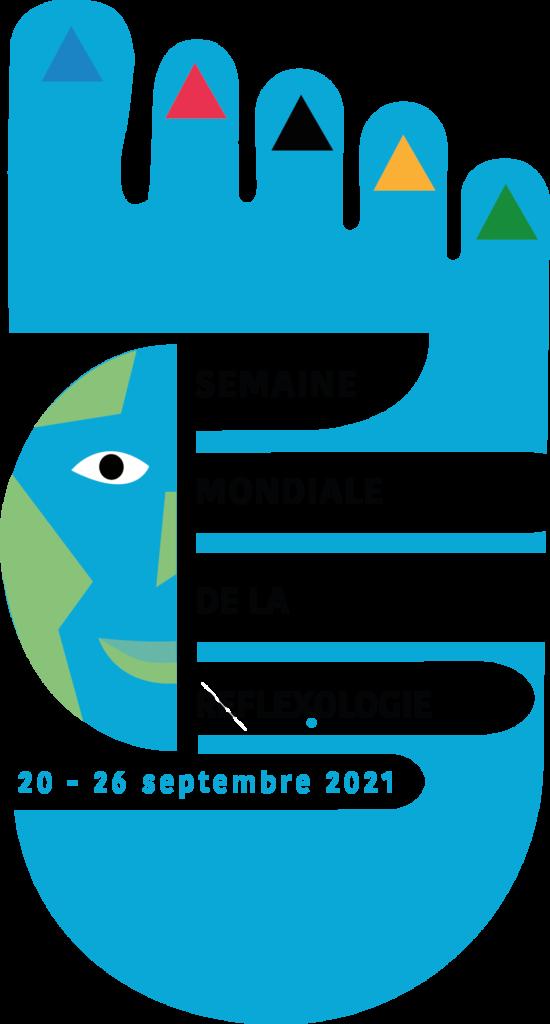 Logo de la FFR (Fédération Française des Réflexologues) pour la semaine mondiale de la réflexologie 2021